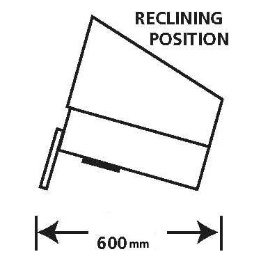 BV200S illustration in reclining position