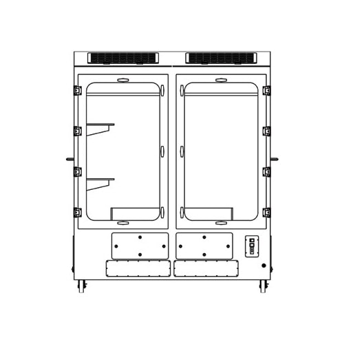 FDC-008GL-Duplex-G Double Chamber Forensic Crying Evidence Cabinet